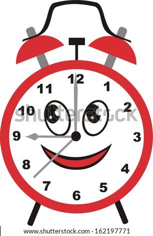 Alarm clock cartoon vector illustration - stock vector