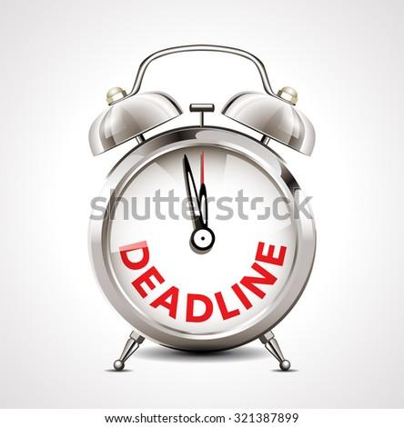 Alarm clock - deadline - stock vector