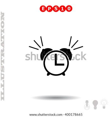 Alarm clock Icon. Alarm clock Icon Vector. Alarm clock Icon Object. Alarm clock Icon Picture. Alarm clock Icon Image. Alarm clock Icon JPG. Alarm clock Icon JPEG. Alarm clock Icon EPS. - stock vector