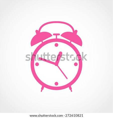 Alarm clock Icon Isolated on White Background - stock vector