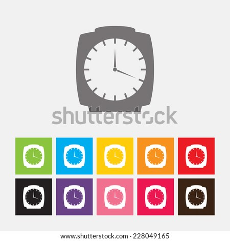 Alarm clock icon - Vector - stock vector