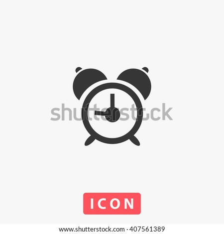 Alarm clock Icon Vector.  - stock vector