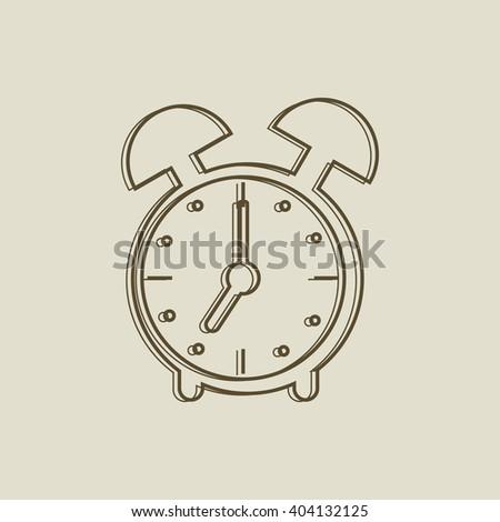 Alarm clock icon. Vector illustration. - stock vector