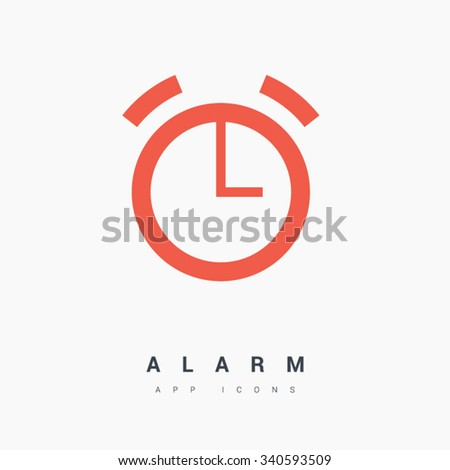 alarm clock isolated minimal single flat linear icon. Line vector icon for websites and mobile minimalistic flat design. Modern trend concept design style illustration symbol - stock vector
