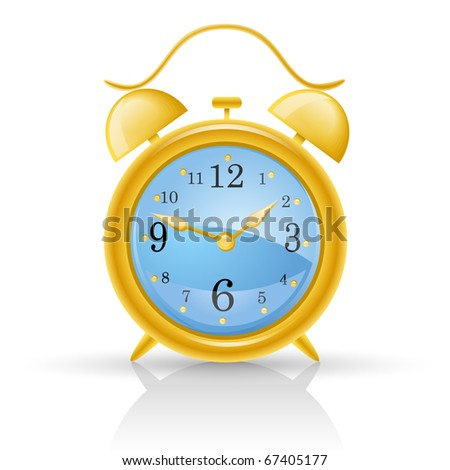 Alarm clock isolated on white background. - stock vector