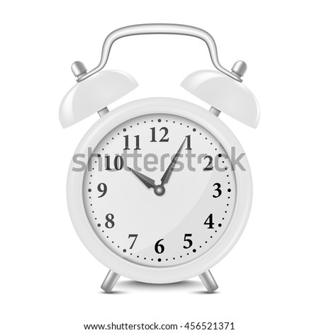Alarm clock isolated on white. Vector EPS10 illustration. - stock vector