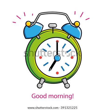Alarm clock ringing. - stock vector