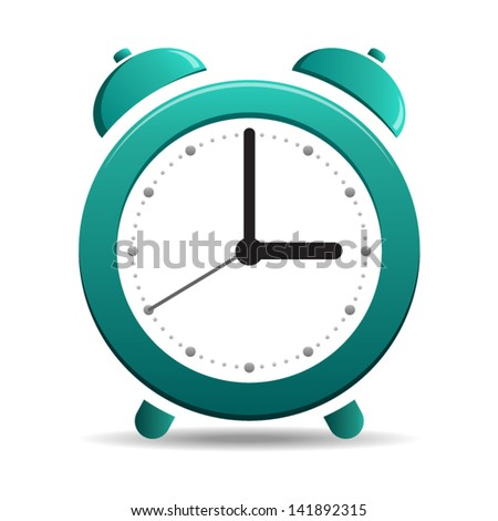 Alarm Clock simple symbol - icon isolated on white background. Vector - stock vector