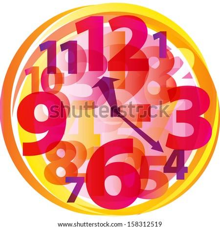 Alarm clock time. Vector illustration  - stock vector