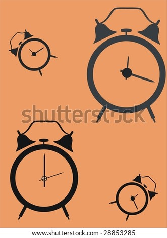 alarm clock-vector background - stock vector