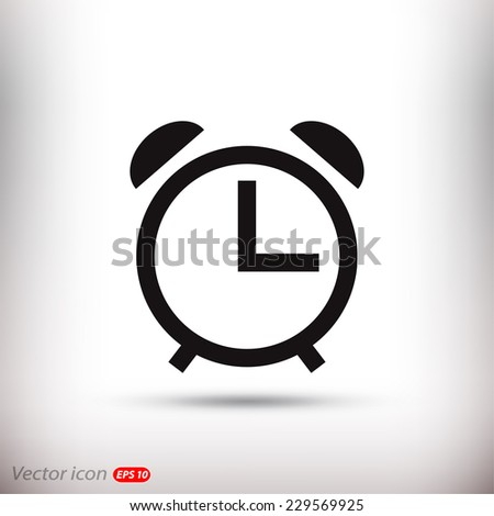 alarm clock-Vector icon - stock vector