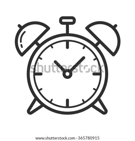 Alarm clock. Vector icon. - stock vector