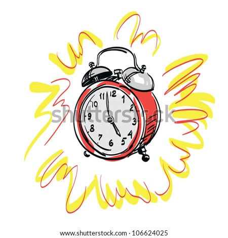 alarm clock  vector illustration - stock vector