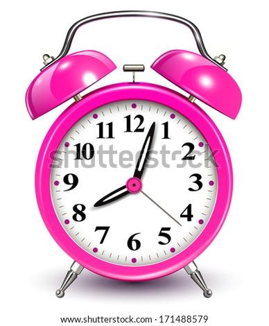 Alarm clock, vector illustration. - stock vector
