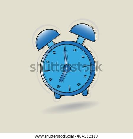 Alarm clock vector illustration. - stock vector