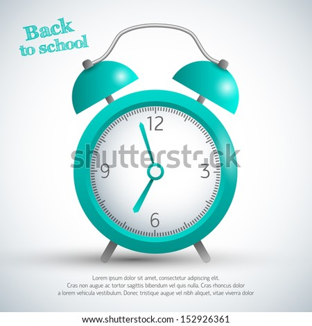 Alarm clock. Vector Illustration, eps10, contains transparencies. - stock vector