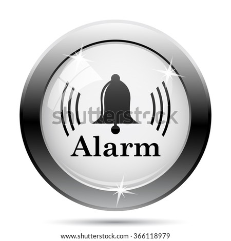 Alarm icon. Internet button on white background. EPS10 vector.