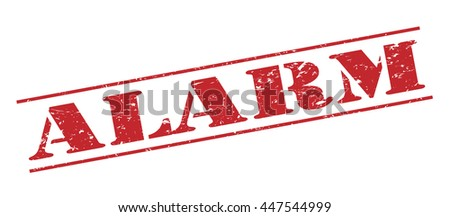 alarm vector stamp on white background