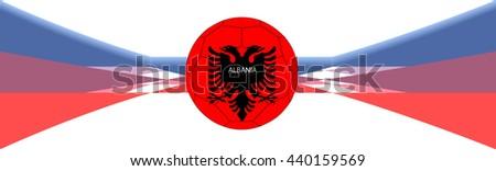 Albania football banner - stock vector