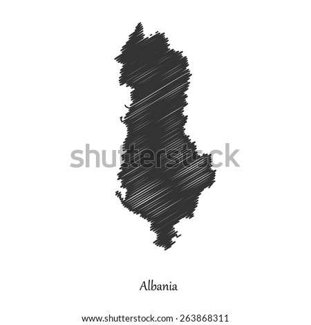 Albania map icon for your design, concept Illustration. - stock vector