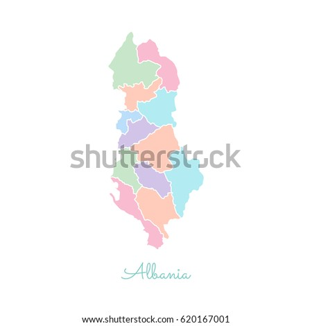 Albania region map colorful white outline stock vector 2018 albania region map colorful with white outline detailed map of albania regions vector publicscrutiny Choice Image