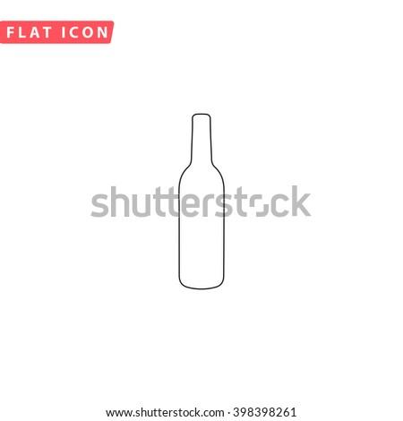 Alcohol bottle Icon Vector. Alcohol bottle Icon JPEG. Alcohol bottle Icon Picture. Alcohol bottle Icon JPG. Alcohol bottle Icon EPS. Alcohol bottle Icon AI. Alcohol bottle Icon Drawing  - stock vector