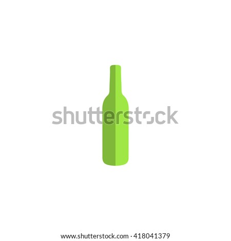 alcohol bottle Simple flat vector icon - stock vector