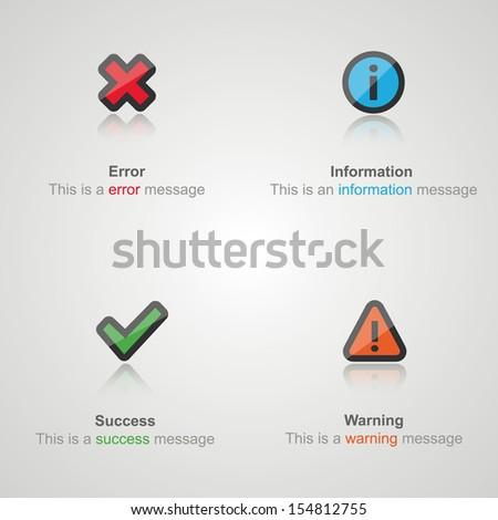 Alert flat icons concept.  - stock vector