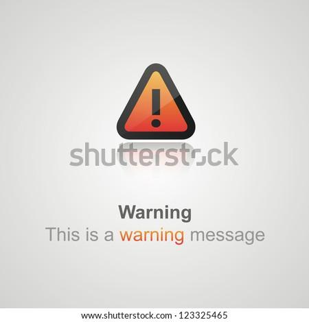 Alert icons - stock vector