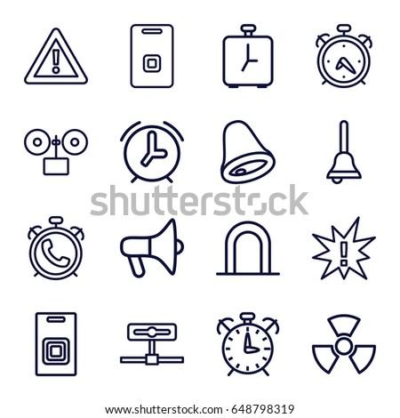 Alert icons set. set of 16 alert outline icons such as alarm siren  sc 1 st  Shutterstock & Alert Icons Set Set 25 Alert Stock Vector 643505953 - Shutterstock pezcame.com