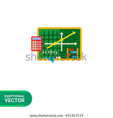 Algebra flat icon - stock vector
