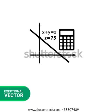 Algebra simple icon - stock vector