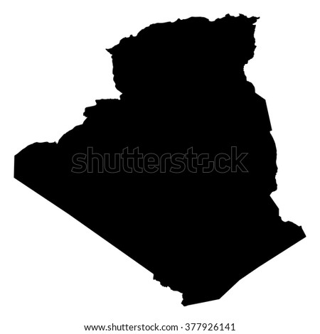 Algeria map on white background vector - stock vector