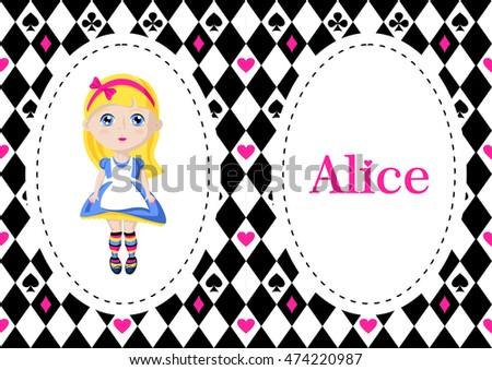 Alice Wonderland Characters Cartoons On Chess Stock Vector 474220987 ...