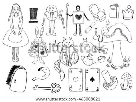 Alice Seamless Texture Vectores En Stock 135028505 - Shutterstock