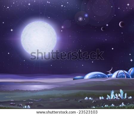 moon base stock images royaltyfree images amp vectors
