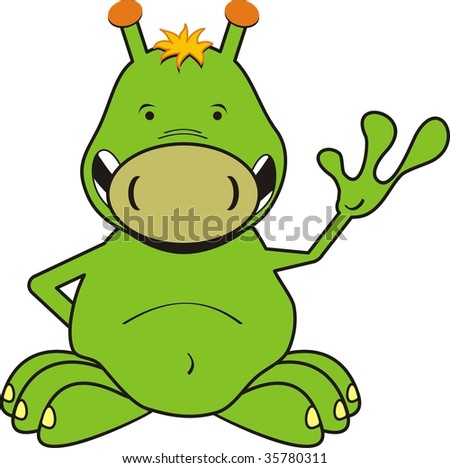 alien cartoon in vector format very easy to edit