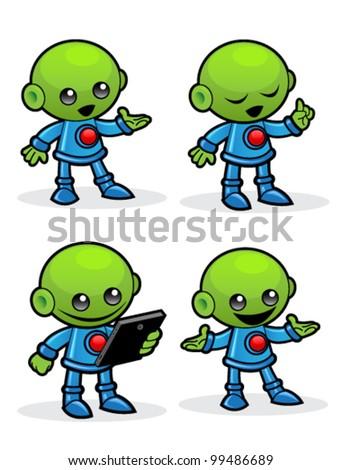 Alien Character - stock vector