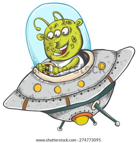 alien invasion - stock vector