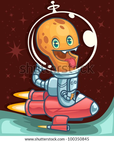 Alien Nation monster - stock vector