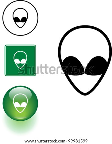Alien head stock photos illustrations and vector art