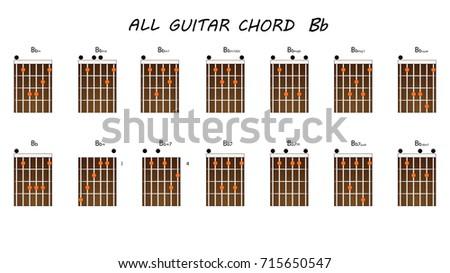 All Chords Guitar Bb Stock Vector 2018 715650547 Shutterstock