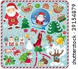 All Christmas symbols in one set! - stock vector
