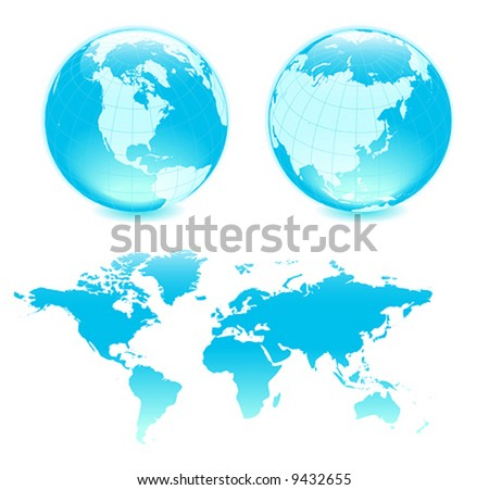 All elements are separate objects and grouped. File is made with gradient. No transparency. Map source Url: https://www.cia.gov/library/publications/the-world-factbook/docs/refmaps.html - stock vector