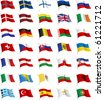 All European flags. All elements and textures are individual objects. Vector illustration scale to any size. - stock photo