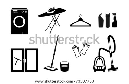 All for cleaning. Vector icon - stock vector