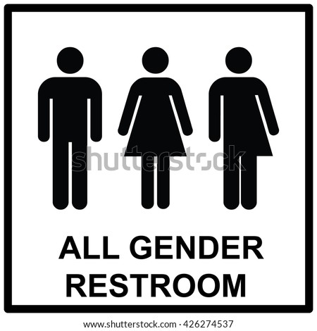 Bathroom Sign Male Vector all gender restroom sign male female stock vector 426274537