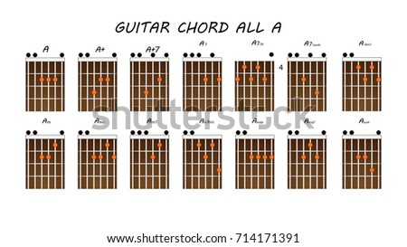 ALL GUITAR CHORDS Stock Vector (Royalty Free) 714171391 - Shutterstock