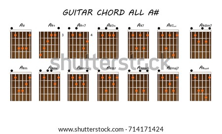 ALL GUITAR CHORDS A Stock Vector (Royalty Free) 714171424 - Shutterstock