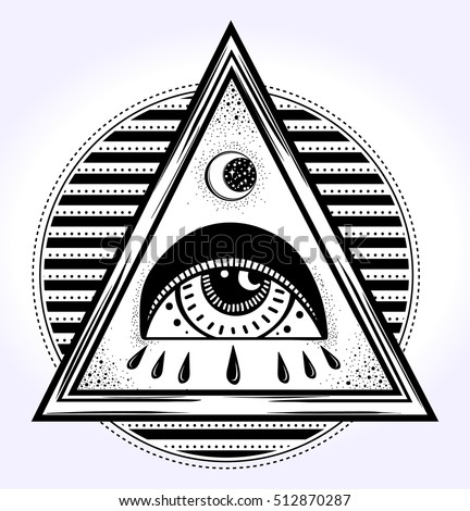 All Seeing Eye Is On The Traingle Pyramid Symbol New